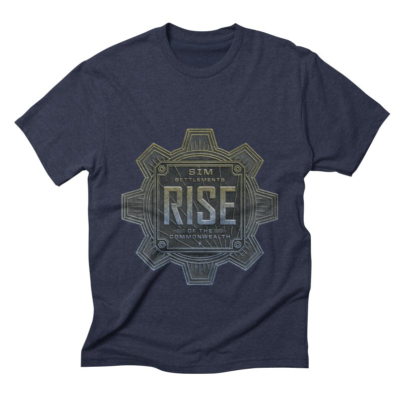 Rise of the Commonwealth Logo Men's Triblend T-Shirt by Sim Settlements Shop