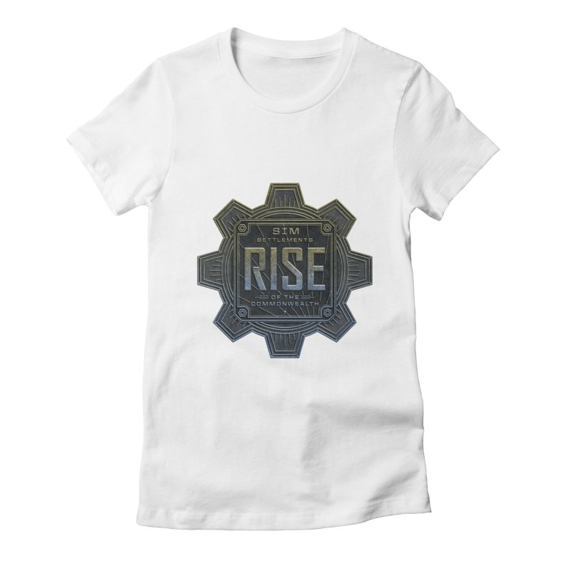 Rise of the Commonwealth Logo Women's Fitted T-Shirt by Sim Settlements Shop