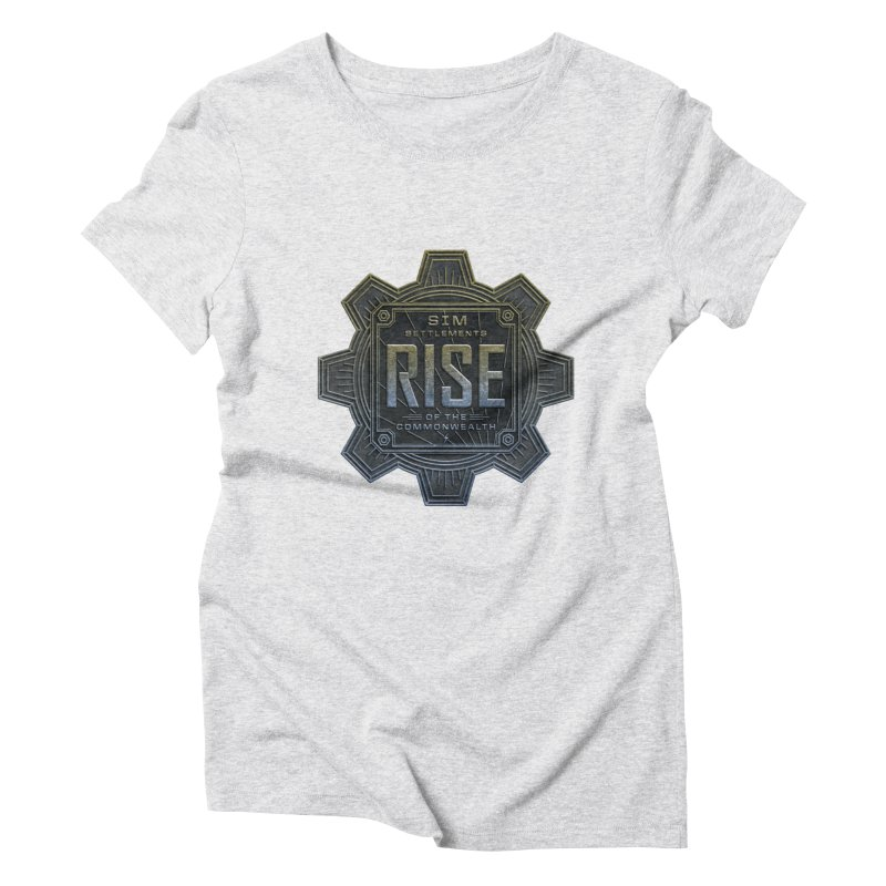 Rise of the Commonwealth Logo Women's Triblend T-Shirt by Sim Settlements Shop