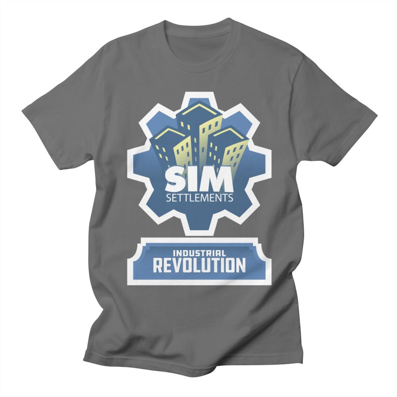 Industrial Revolution Logo Men's T-Shirt by Sim Settlements Shop