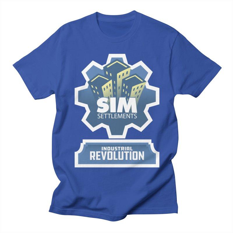 Industrial Revolution Logo Men's Regular T-Shirt by Sim Settlements Shop