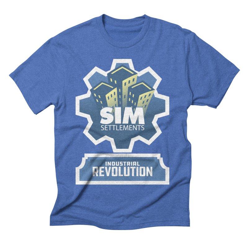 Industrial Revolution Logo Men's Triblend T-Shirt by Sim Settlements Shop