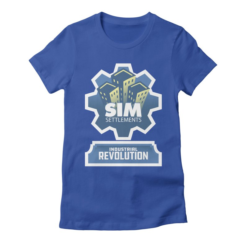 Industrial Revolution Logo Women's Fitted T-Shirt by Sim Settlements Shop