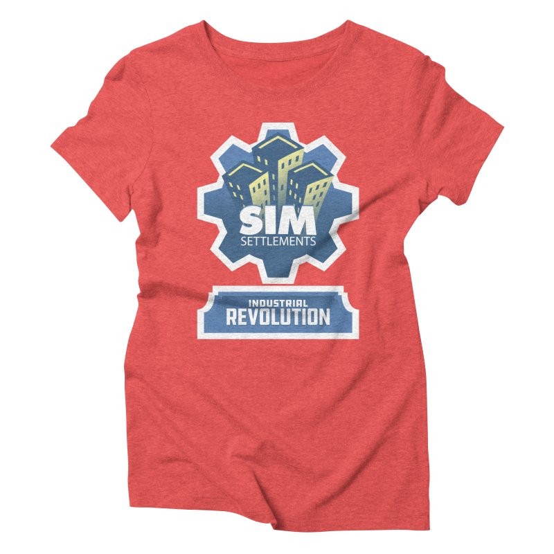 Industrial Revolution Logo Women's Triblend T-Shirt by Sim Settlements Shop
