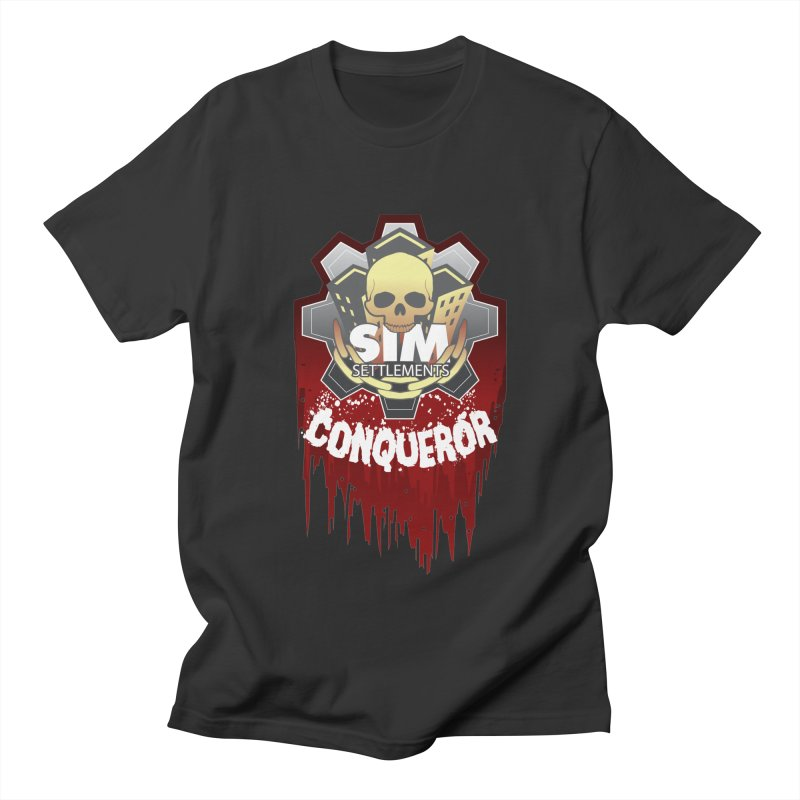 Conqueror Logo Men's Regular T-Shirt by Sim Settlements Shop