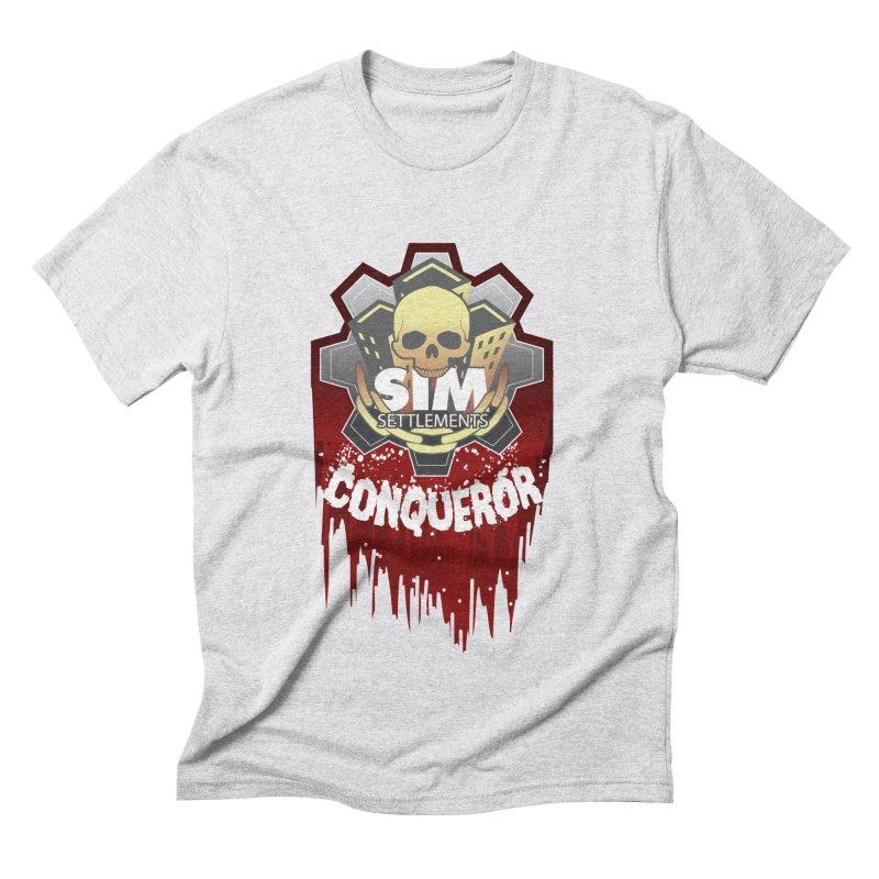 Conqueror Logo Men's Triblend T-Shirt by Sim Settlements Shop