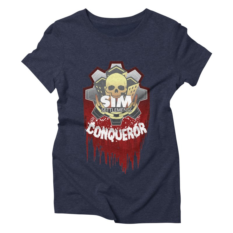 Conqueror Logo Women's Triblend T-Shirt by Sim Settlements Shop