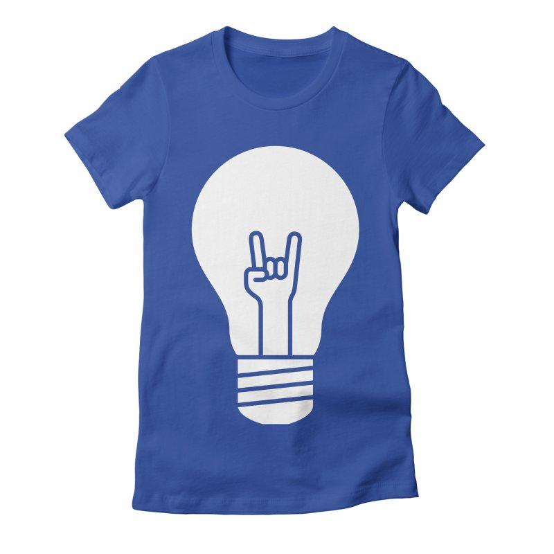 Idea Rocks Women's Fitted T-Shirt by siniz's Artist Shop