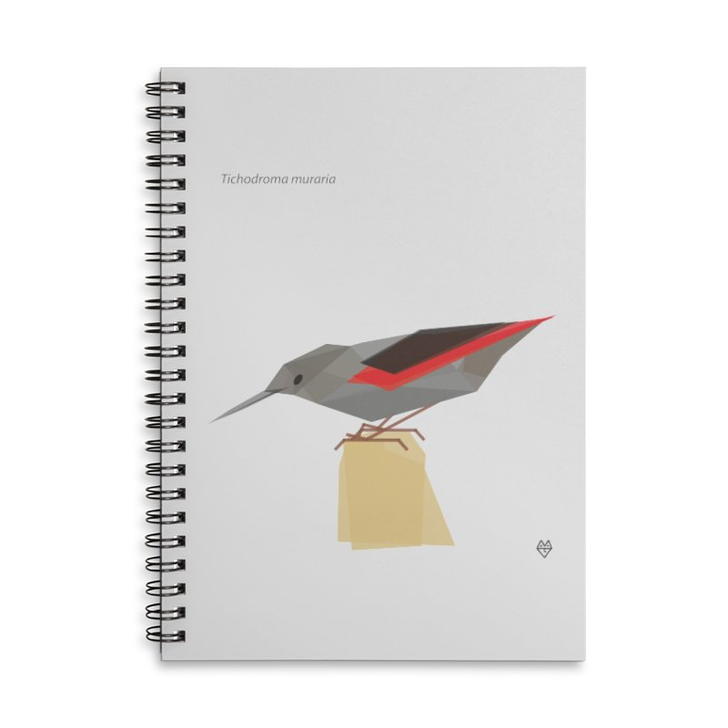 Wallcreeper Accessories Lined Spiral Notebook by Sin Remite Artist Shop