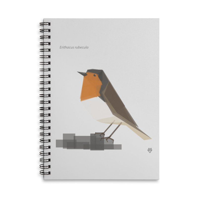 Robin Accessories Lined Spiral Notebook by Sin Remite Artist Shop