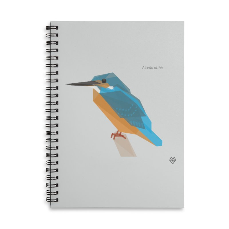 Kingfisher Accessories Lined Spiral Notebook by Sin Remite Artist Shop