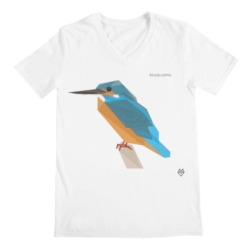 Kingfisher Men's V-Neck by Sin Remite Artist Shop