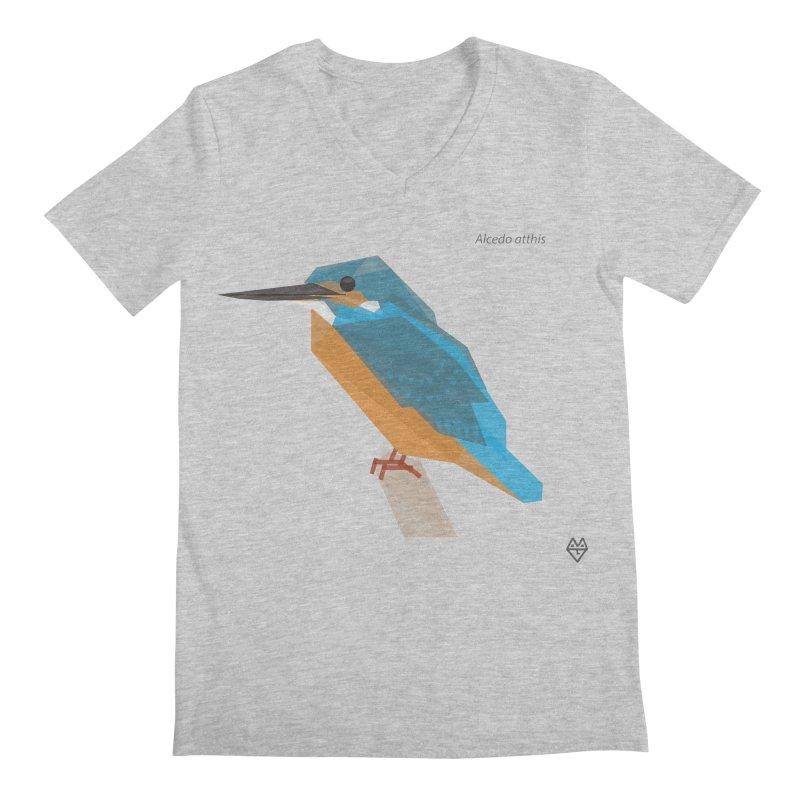 Kingfisher Men's Regular V-Neck by Sin Remite Artist Shop