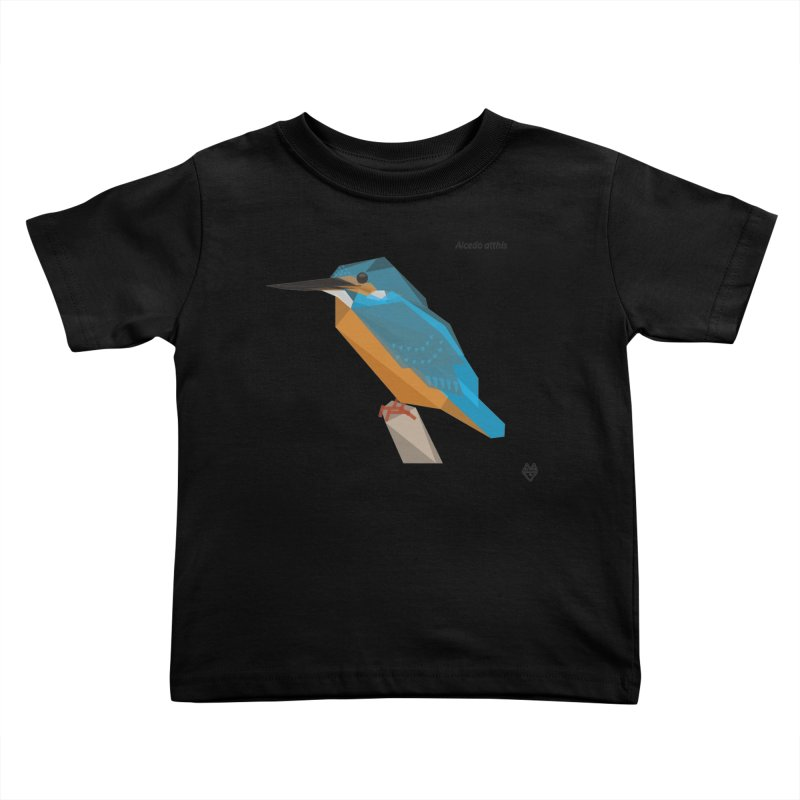 Kingfisher Kids Toddler T-Shirt by Sin Remite Artist Shop