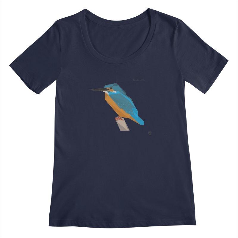 Kingfisher Women's Scoopneck by Sin Remite Artist Shop