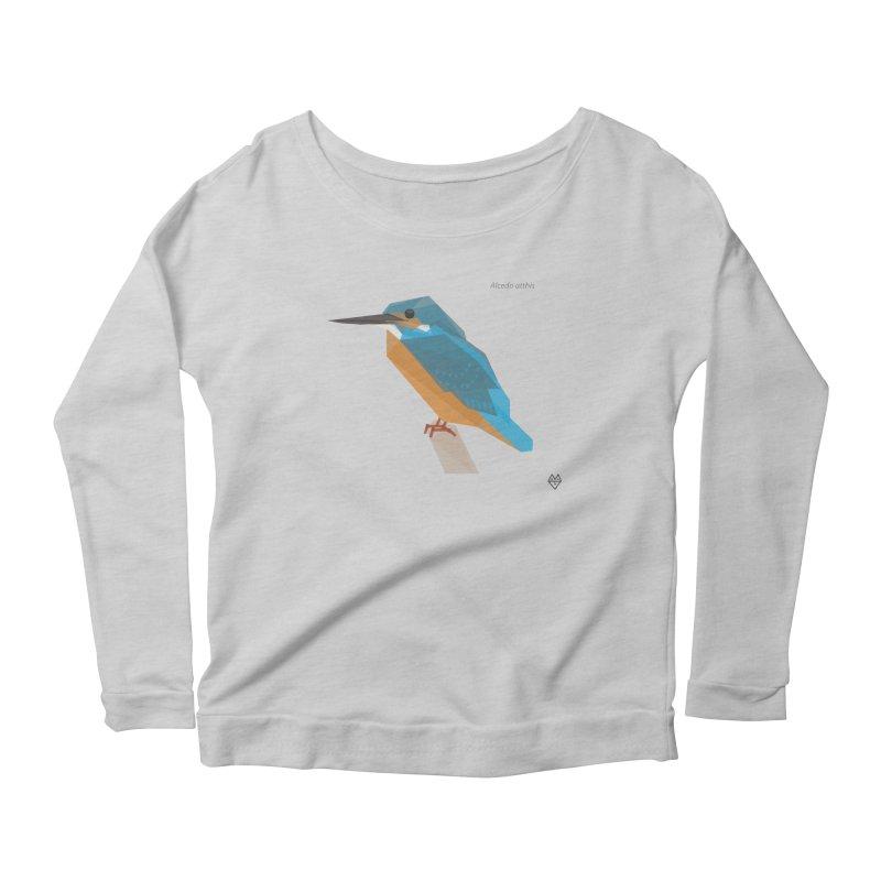 Kingfisher Women's Scoop Neck Longsleeve T-Shirt by Sin Remite Artist Shop