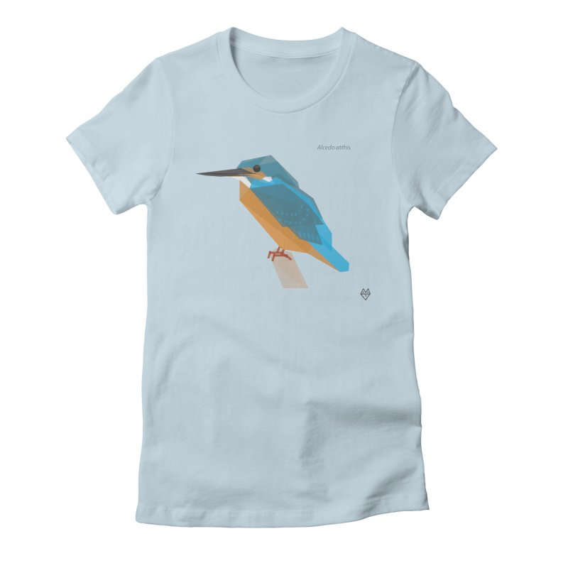 Kingfisher Women's Fitted T-Shirt by Sin Remite Artist Shop