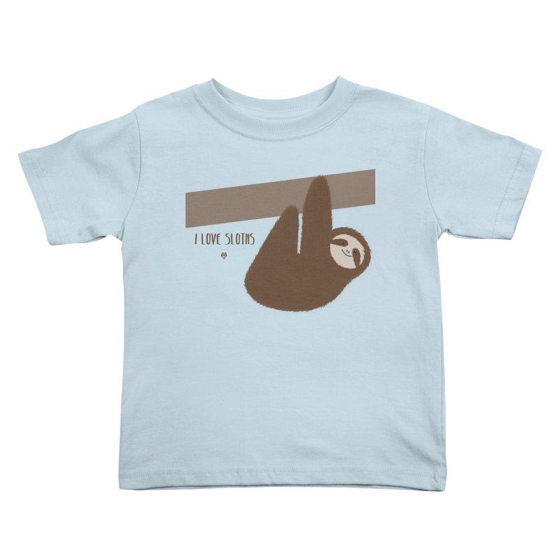 Sloth love Kids Toddler T-Shirt by Sin Remite Artist Shop