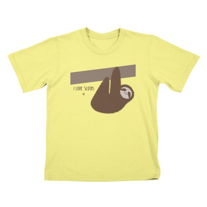 Sloth love Kids T-shirt by Sin Remite Artist Shop