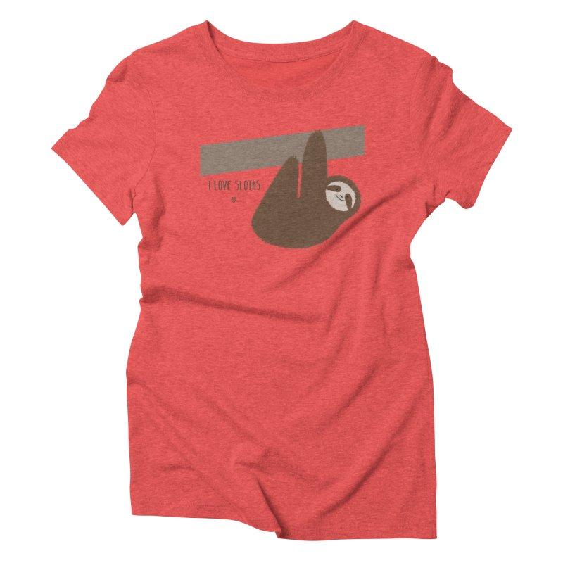 Sloth love Women's Triblend T-Shirt by Sin Remite Artist Shop
