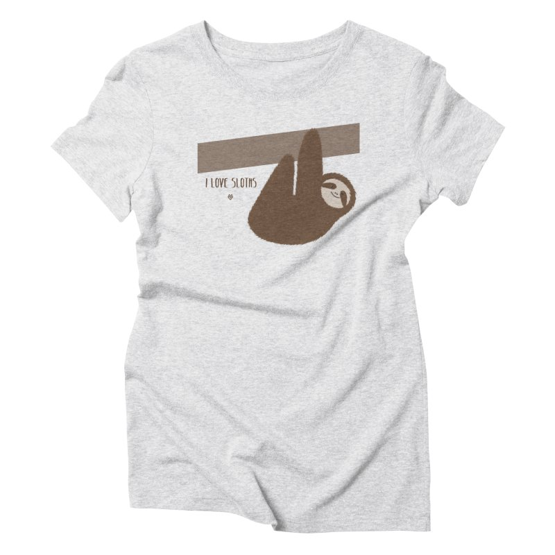 Sloth love Women's Triblend T-Shirt by Sin Remite Artist Shop
