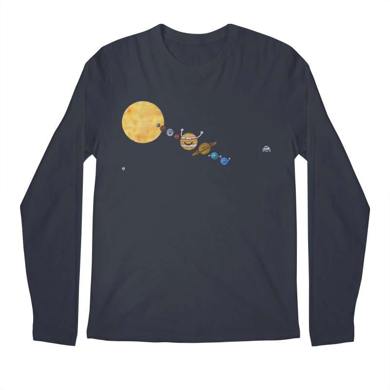 Pluto Men's Regular Longsleeve T-Shirt by Sin Remite Artist Shop