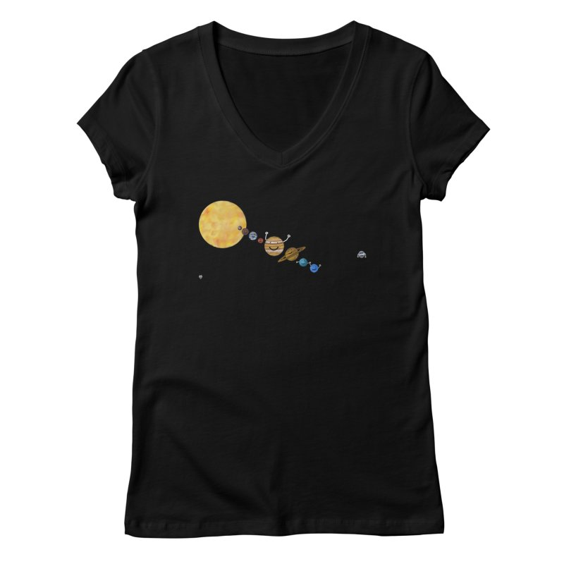 Pluto Women's Regular V-Neck by Sin Remite Artist Shop