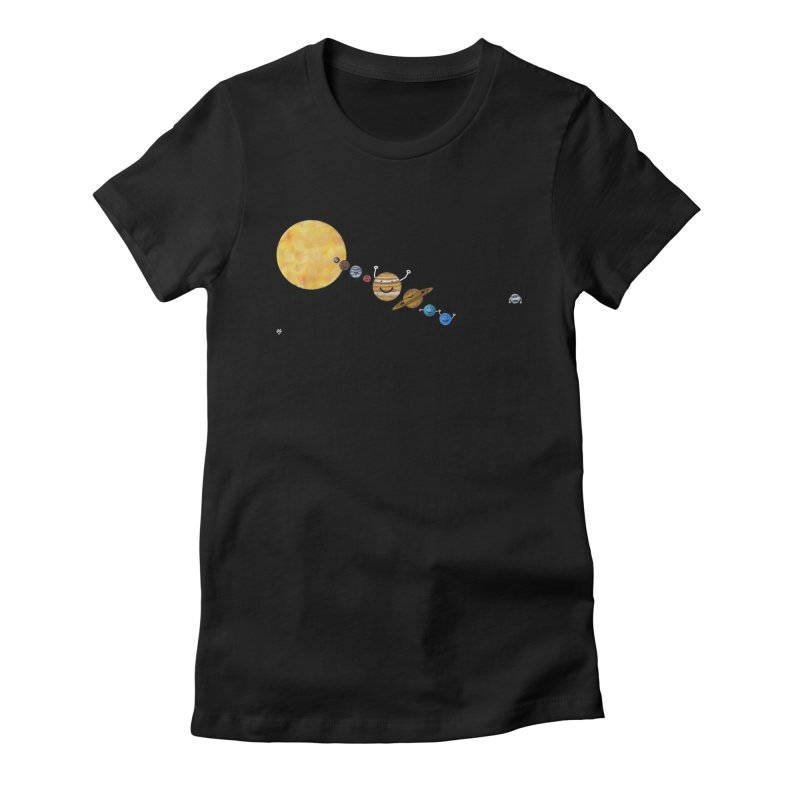 Pluto Women's Fitted T-Shirt by Sin Remite Artist Shop