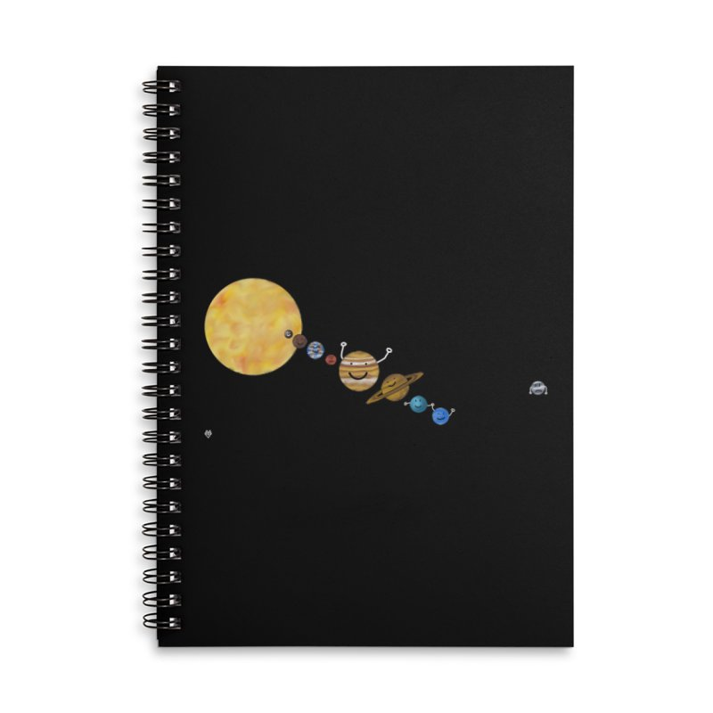 Pluto Accessories Lined Spiral Notebook by Sin Remite Artist Shop