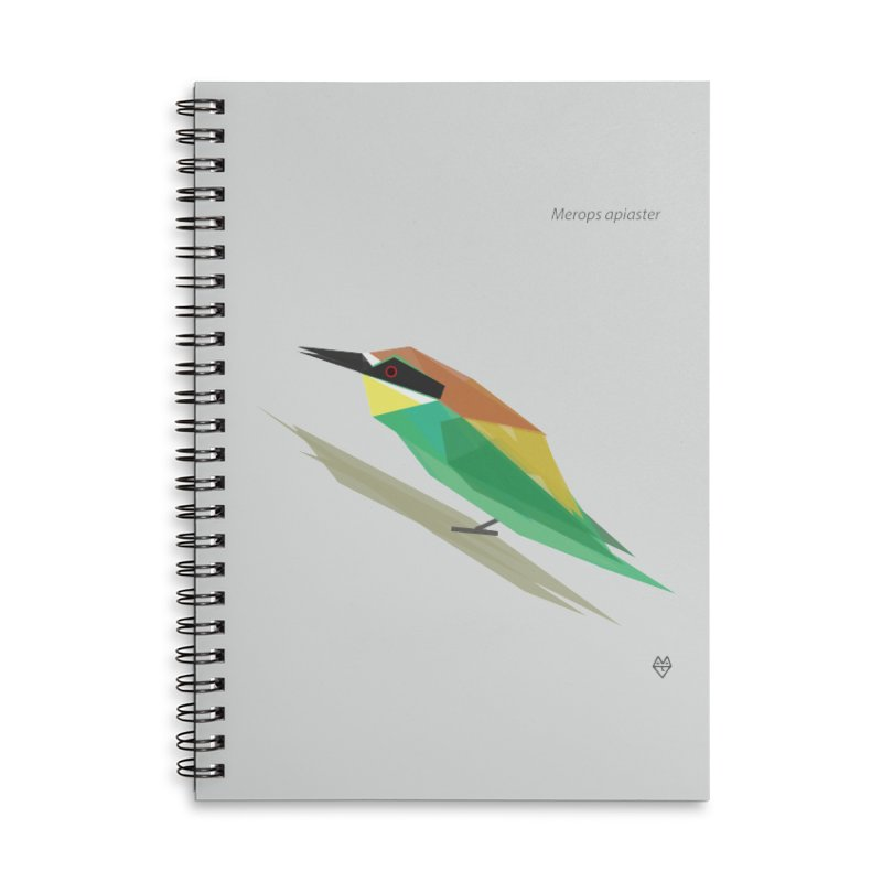 bee-eater Accessories Lined Spiral Notebook by Sin Remite Artist Shop