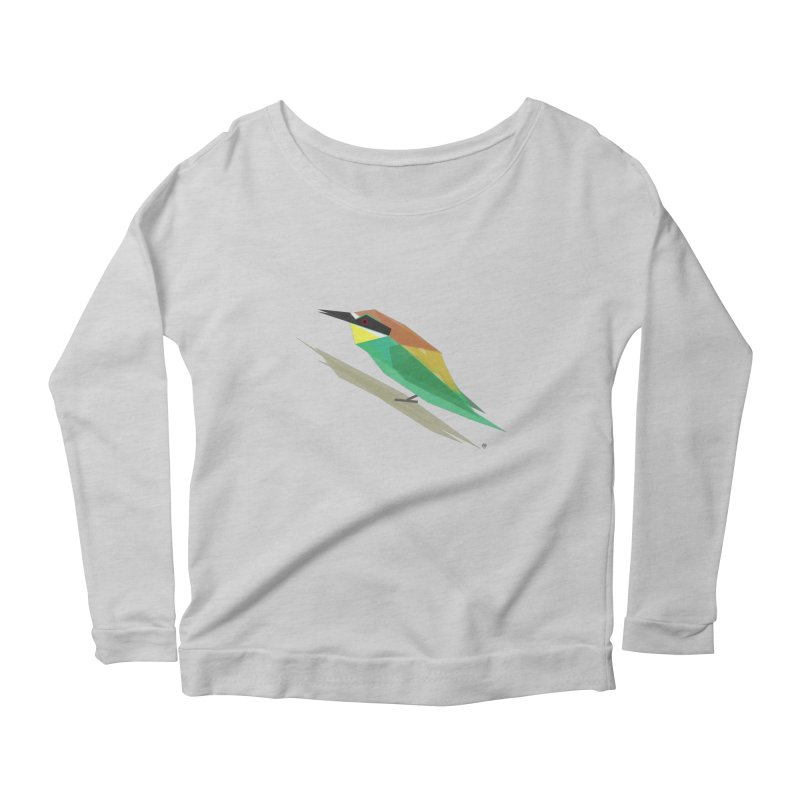 bee-eater Women's Longsleeve Scoopneck  by Sin Remite Artist Shop