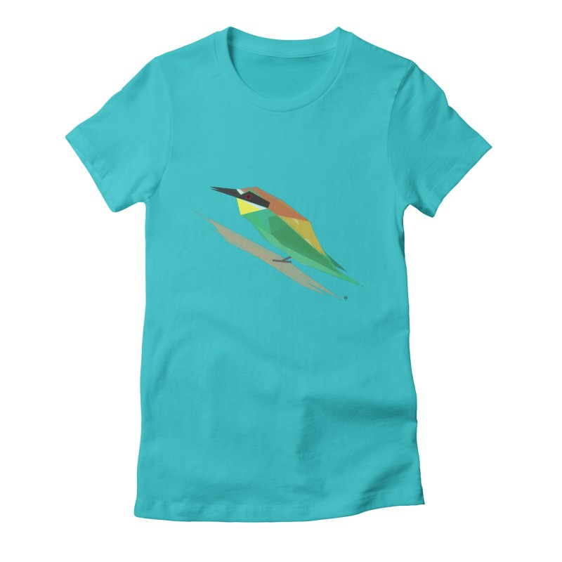 bee-eater Women's Fitted T-Shirt by Sin Remite Artist Shop