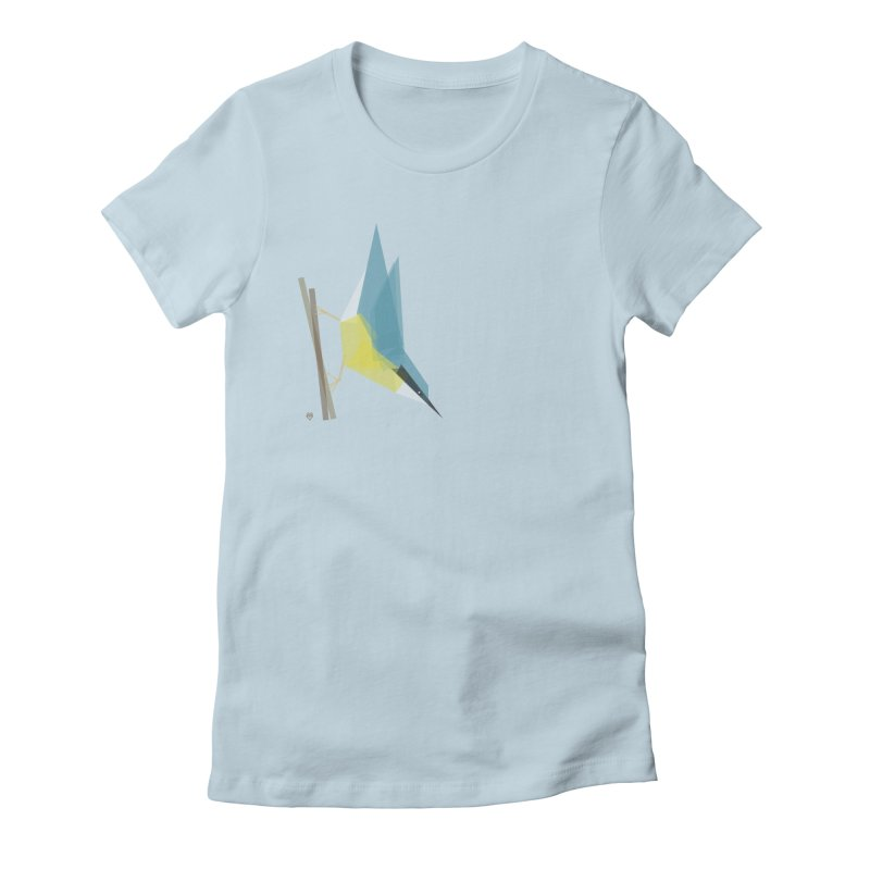 Nuthatch Women's Fitted T-Shirt by Sin Remite Artist Shop