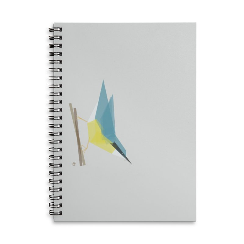 Nuthatch Accessories Lined Spiral Notebook by Sin Remite Artist Shop