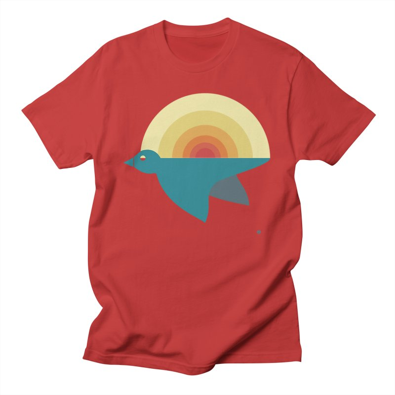 Pájaro Sunrise Men's Regular T-Shirt by Sin Remite Artist Shop