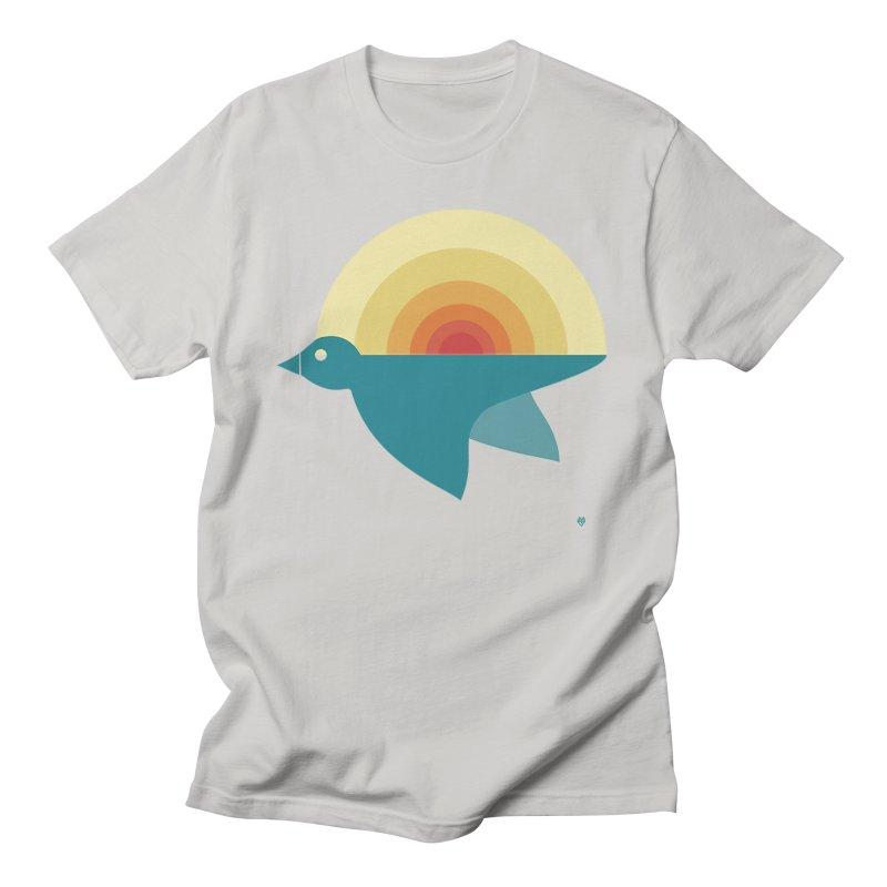 Pájaro Sunrise Men's Regular T-Shirt by Sin Remite Artist Shop