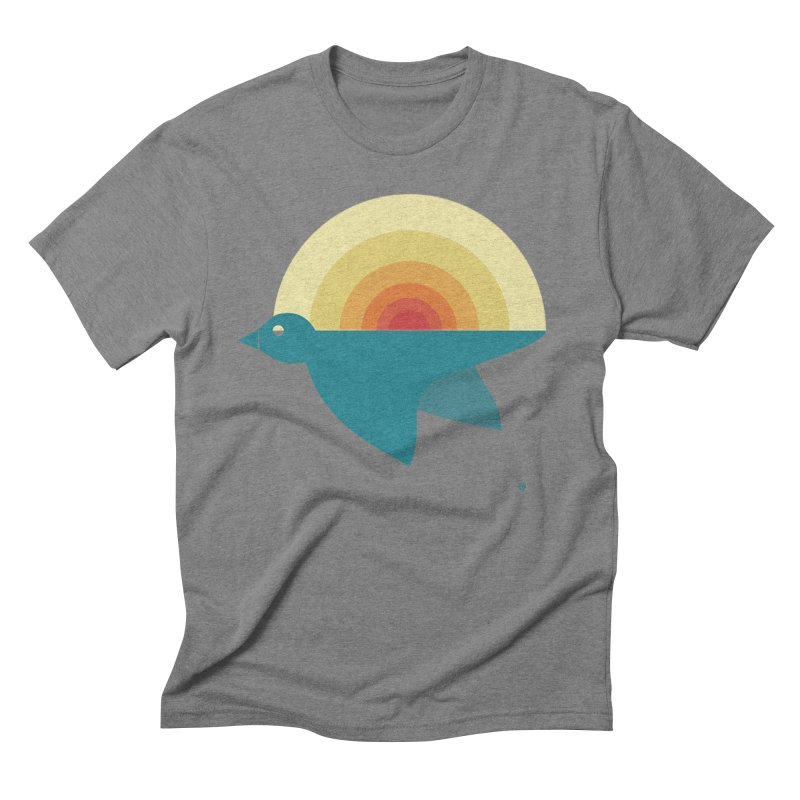 Pájaro Sunrise Men's Triblend T-Shirt by Sin Remite Artist Shop