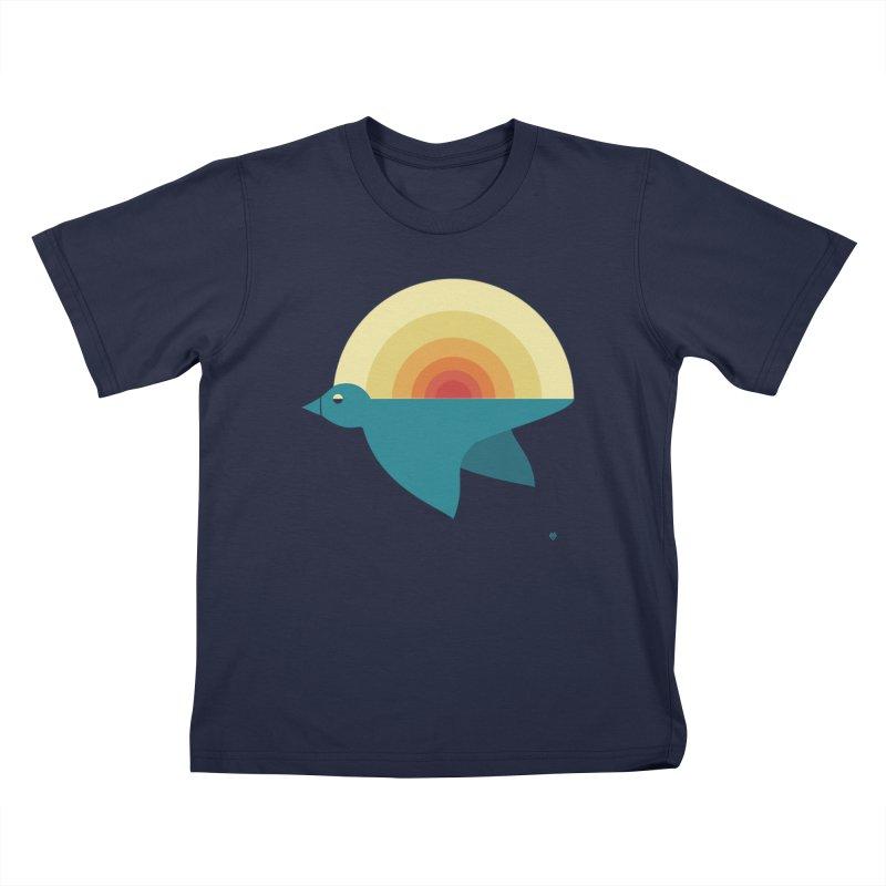 Pájaro Sunrise Kids T-Shirt by Sin Remite Artist Shop