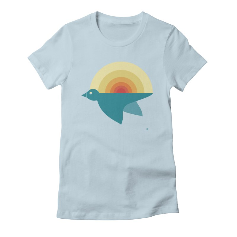 Pájaro Sunrise Women's Fitted T-Shirt by Sin Remite Artist Shop