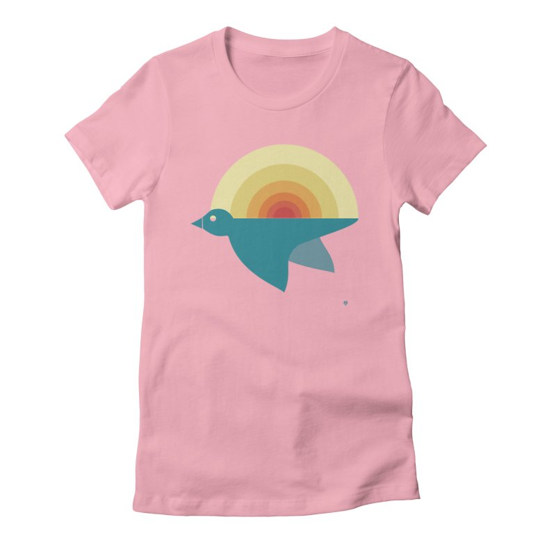 Pájaro Sunrise Women's Fitted T-Shirt by Sin Remite Artist Shop
