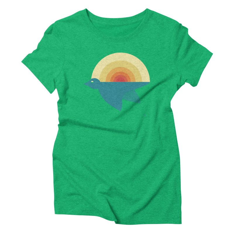Pájaro Sunrise Women's Triblend T-Shirt by Sin Remite Artist Shop