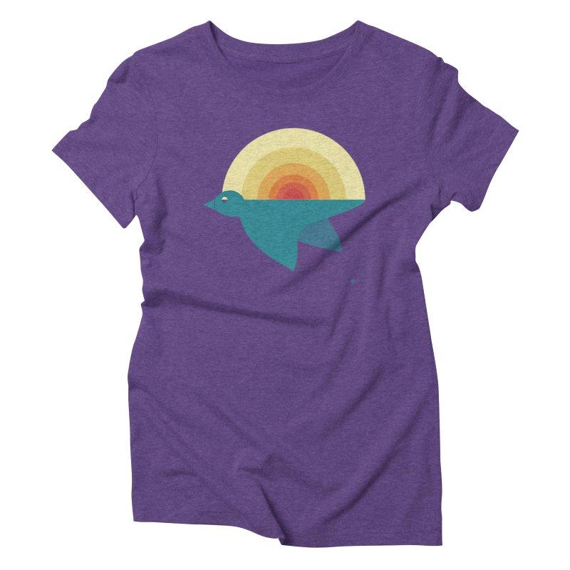 Pájaro Sunrise Women's Triblend T-Shirt by Sin Remite Artist Shop
