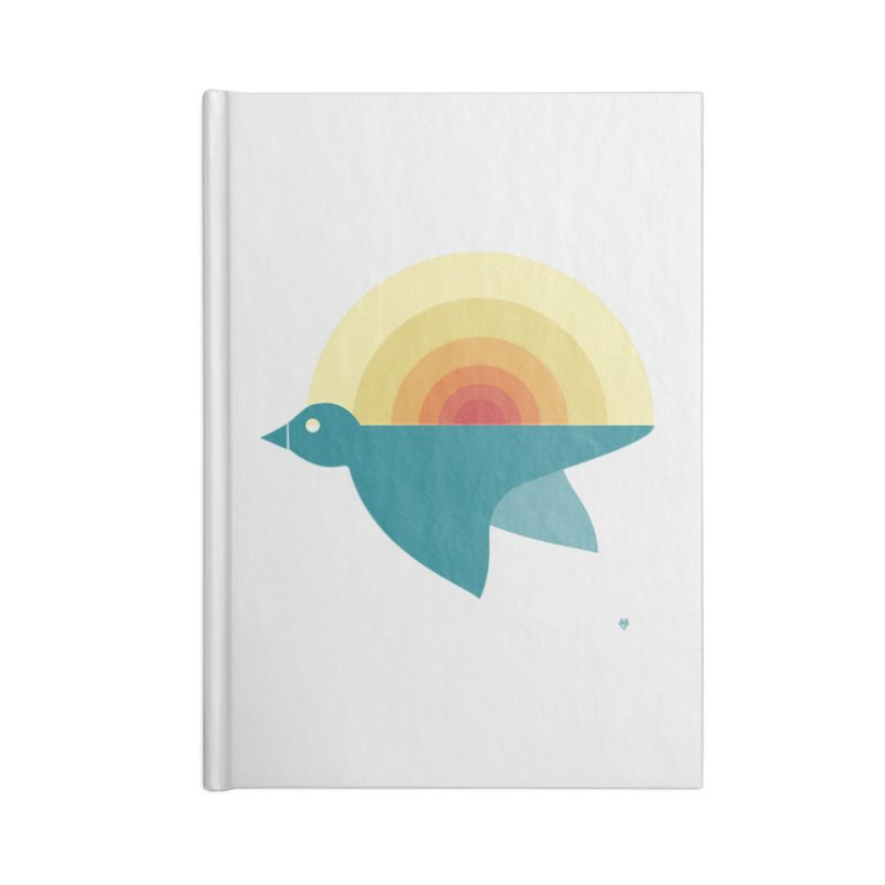 Pájaro Sunrise Accessories Lined Journal Notebook by Sin Remite Artist Shop