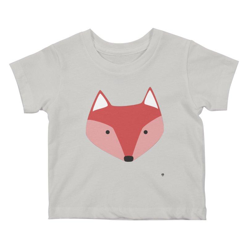 Fox Kids Baby T-Shirt by Sin Remite Artist Shop