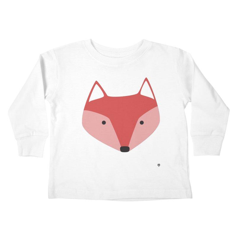 Fox Kids Toddler Longsleeve T-Shirt by Sin Remite Artist Shop