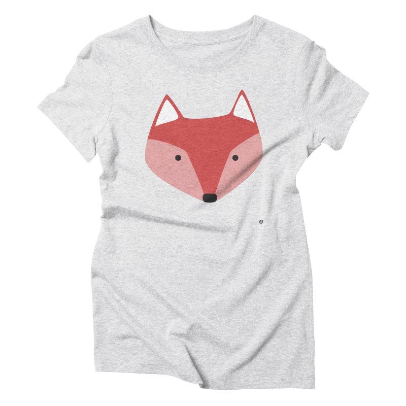 Fox Women's Triblend T-shirt by Sin Remite Artist Shop