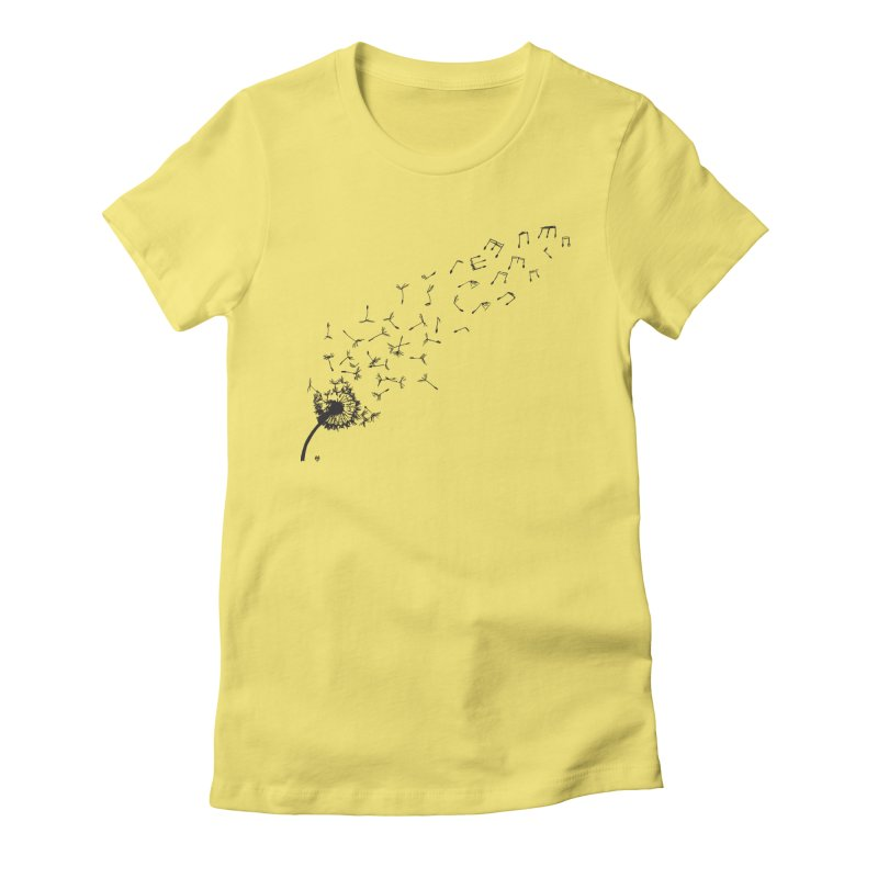 listen to the nature Women's Fitted T-Shirt by Sin Remite Artist Shop