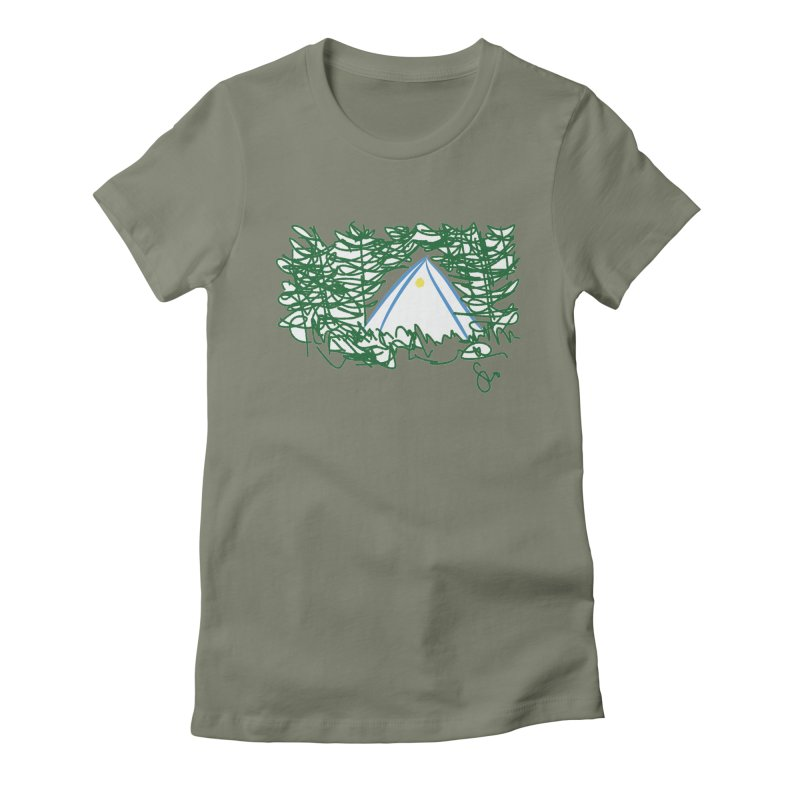 Night Light Women's Fitted T-Shirt by Siobhan Donoghue's Artist Shop