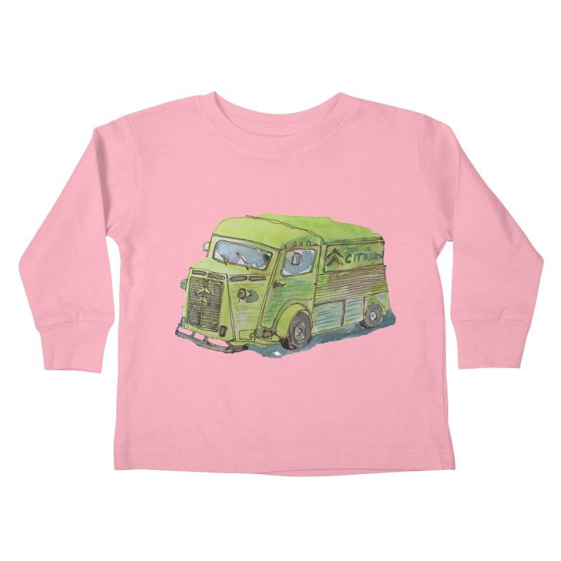 My imaginary food truck Kids Toddler Longsleeve T-Shirt by Siobhan Donoghue's Artist Shop