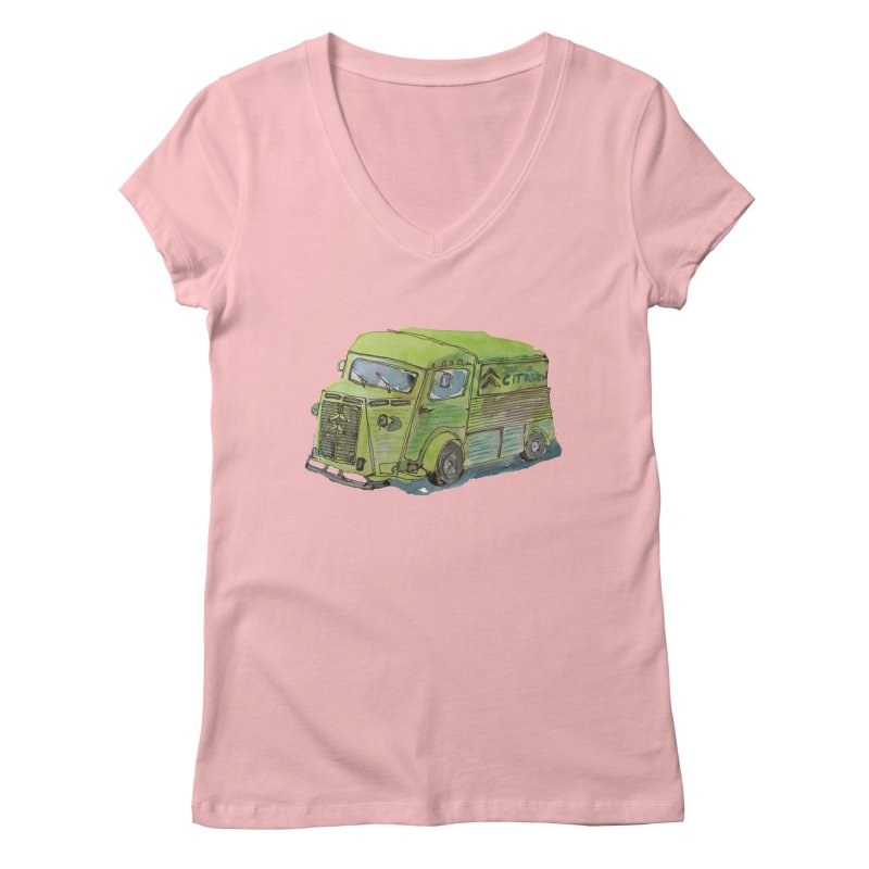 My imaginary food truck Women's V-Neck by Siobhan Donoghue's Artist Shop